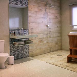 Banheiro com banheira e ôfuro