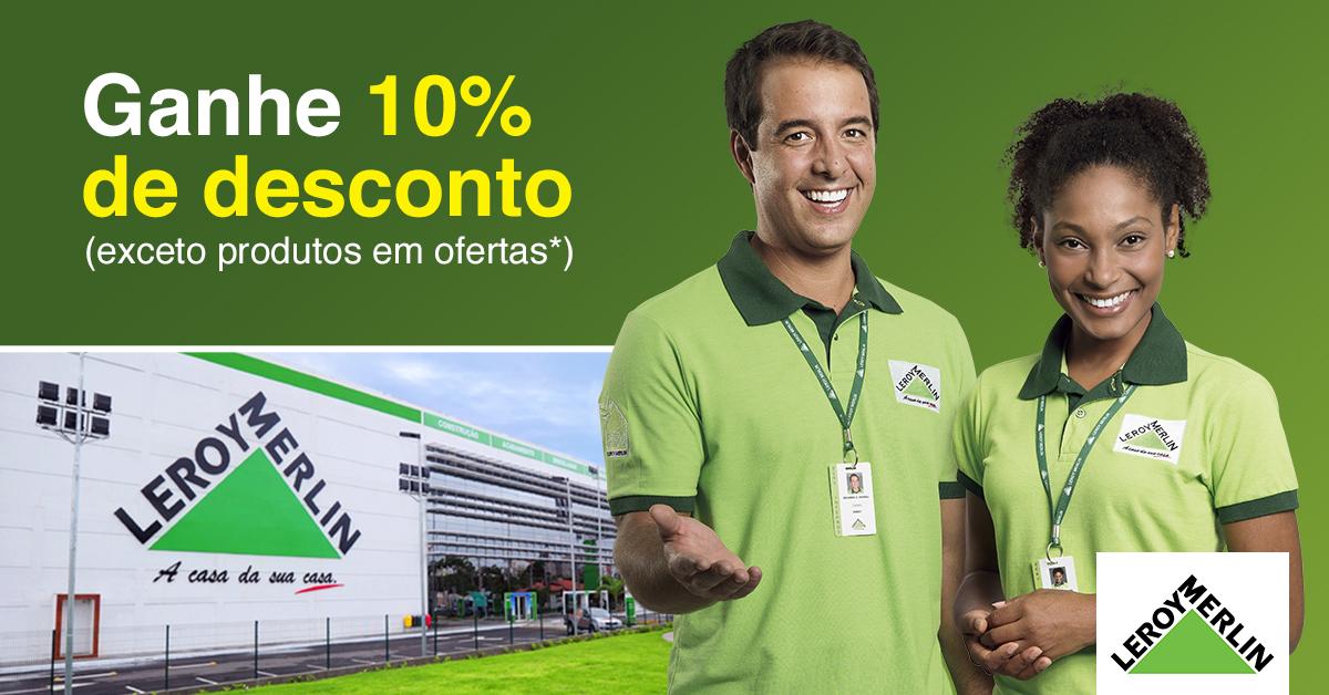 10% de desconto na Leroy Merlin Ribeirão Preto