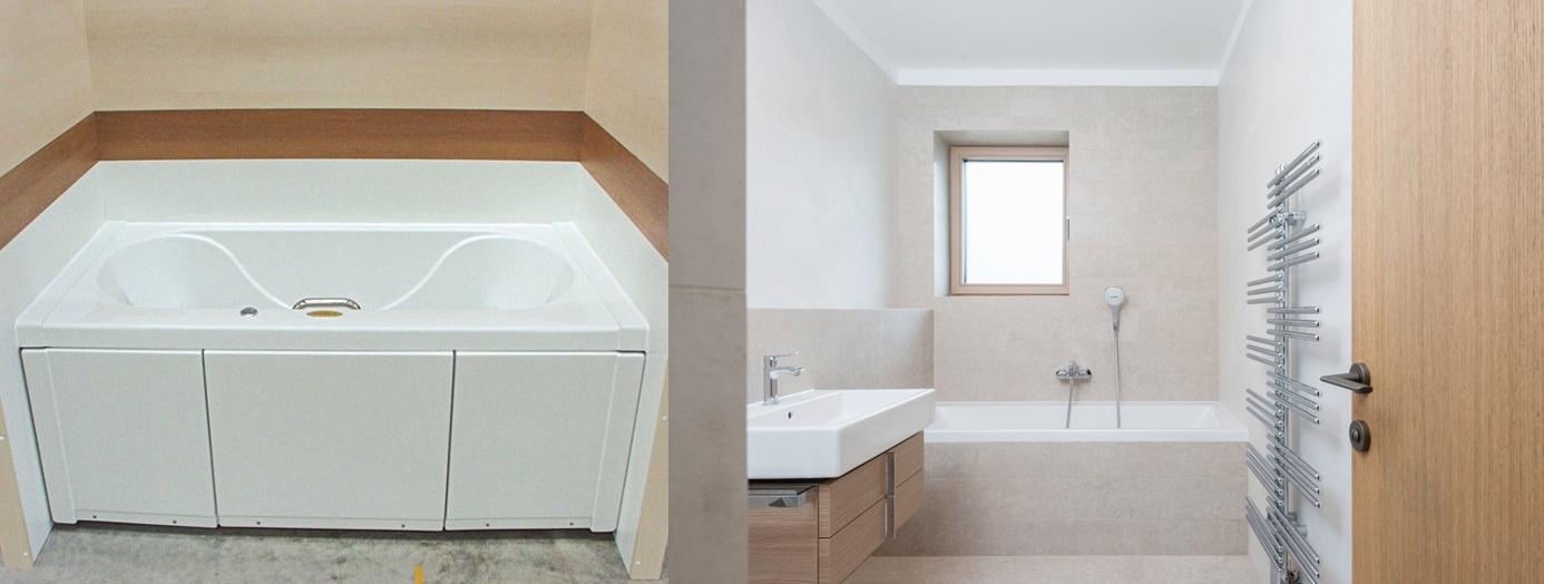5 ideias de banheiras jacuzzi para banheiros pequenos. Black Bedroom Furniture Sets. Home Design Ideas