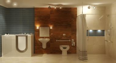 Acessibilidade e segurança em banheiro