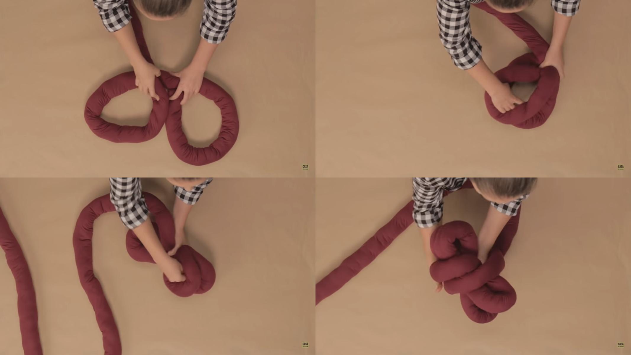 Almofada nó: como fazer o modelo escandinavo passo a passo