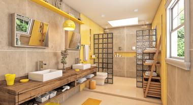 Amarelo é aposta para o banheiro