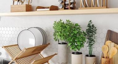 Bancada de cozinha com estilo reconnect