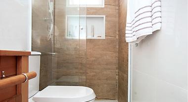 Banheiro clean e com personalidade