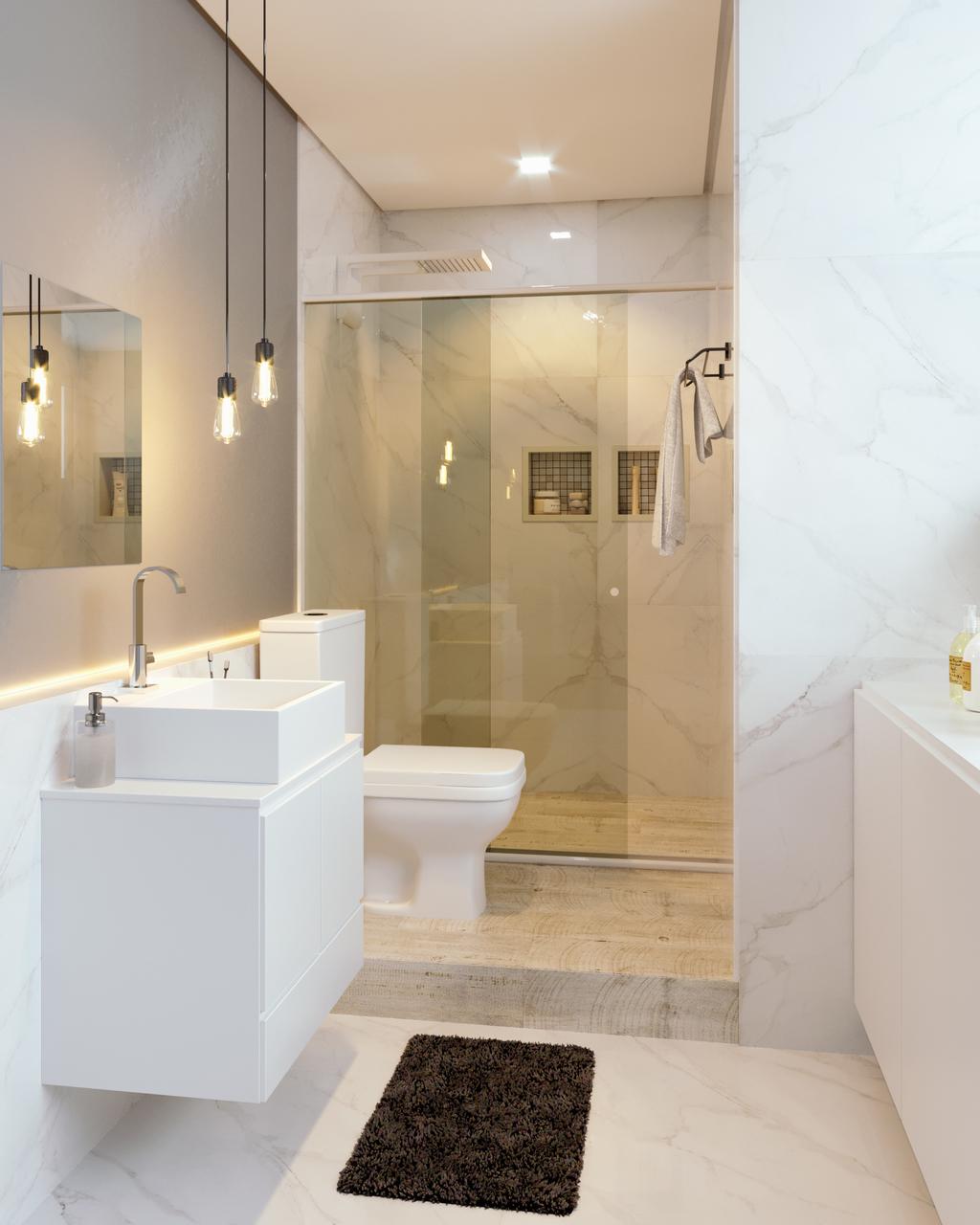 Banheiro Estreito Foto De Banheiro Leroy Merlin