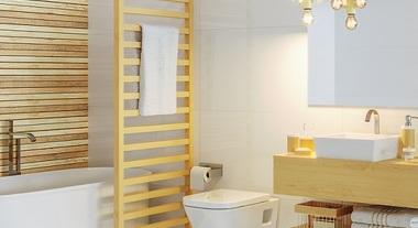 Banheiro grande com decoração essential