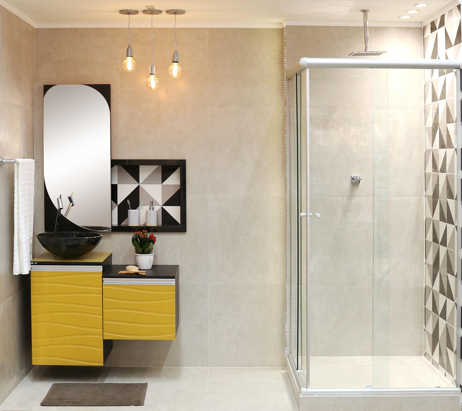 Banheiro grande com gabinete amarelo leroy merlin - Maceteros grandes leroy merlin ...