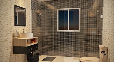 Banheiro grande moderno