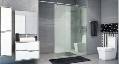Banheiro grande para família