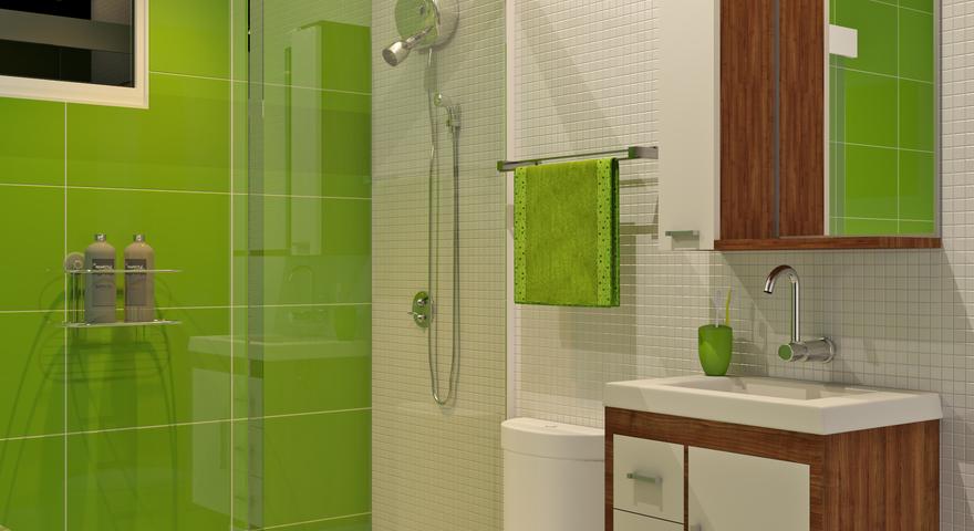 Banheiro pequeno com porcelanato e pastilha leroy merlin - Amueblar piso pequeno barato ...