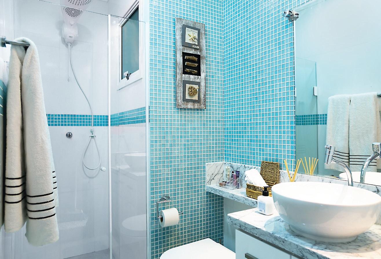 Banheiro Pequeno Com Decoração Praiana