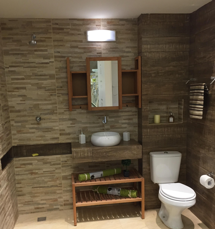 Banheiro pequeno com revestimento leroy merlin - Interiores de armarios leroy merlin ...