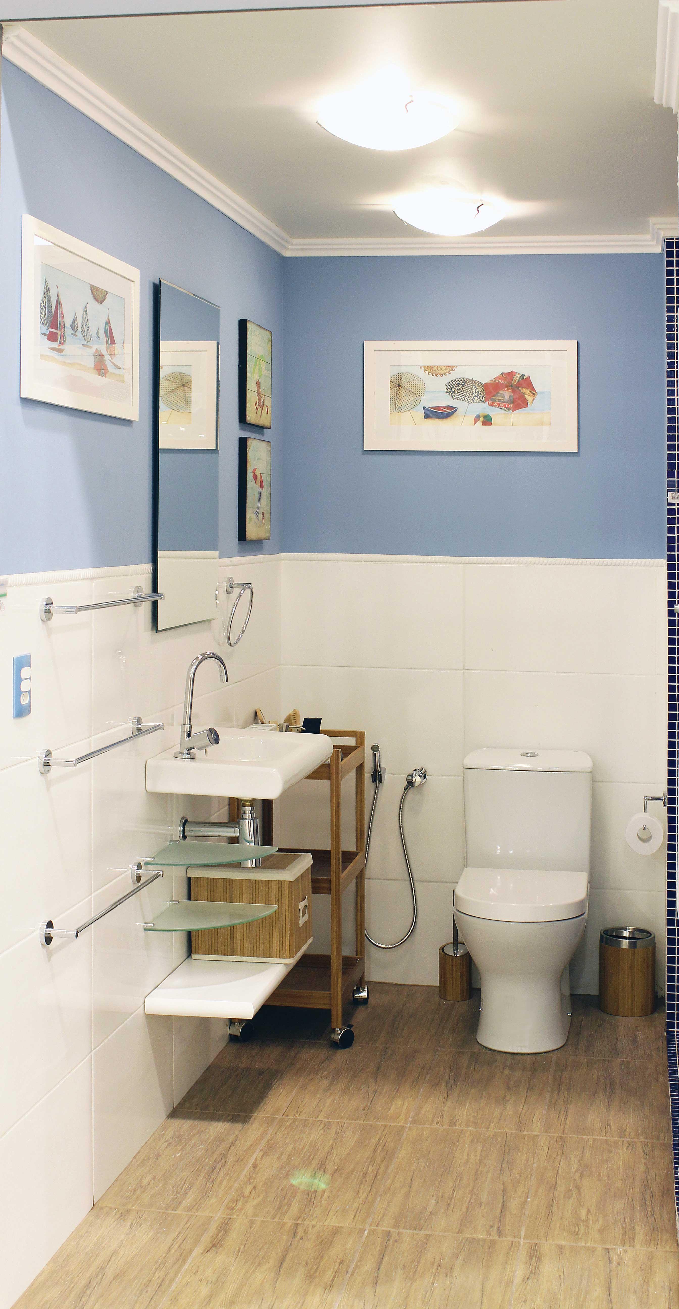 Banheiro pequeno decorado leroy merlin for Lavabo pequeno leroy merlin