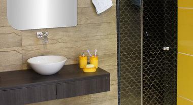Banheiro pequeno e elegante