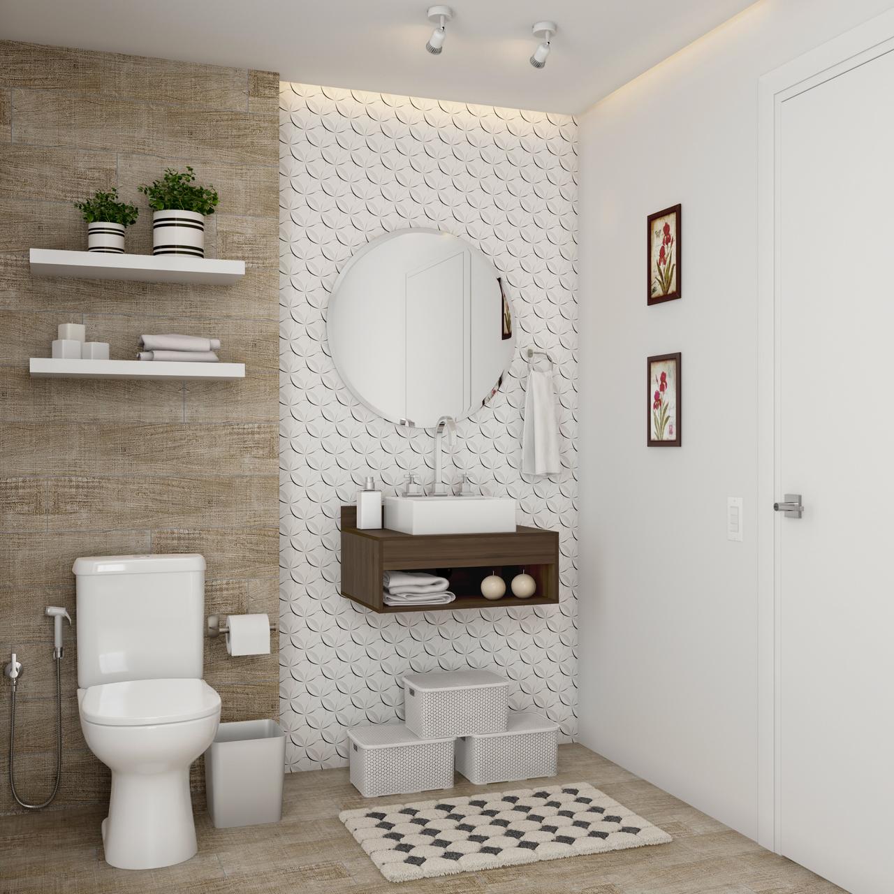 Banheiro Pequeno Planejado Foto De Banheiro Leroy Merlin