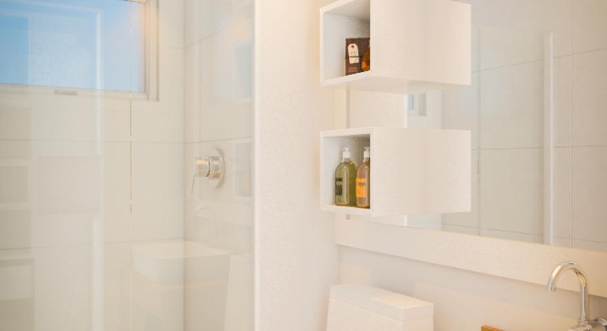#474258 Banheiro pequeno simplesLeroy Merlin 880x480 px banheiro pequeno simples decorado
