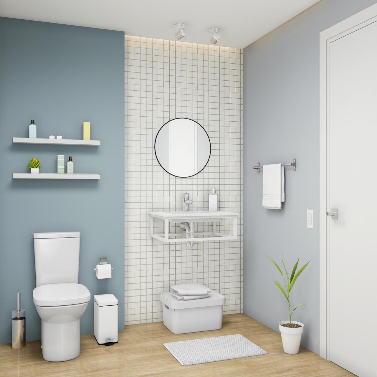 Banheiro Sem Gabinete Com Espelho Leroy Merlin