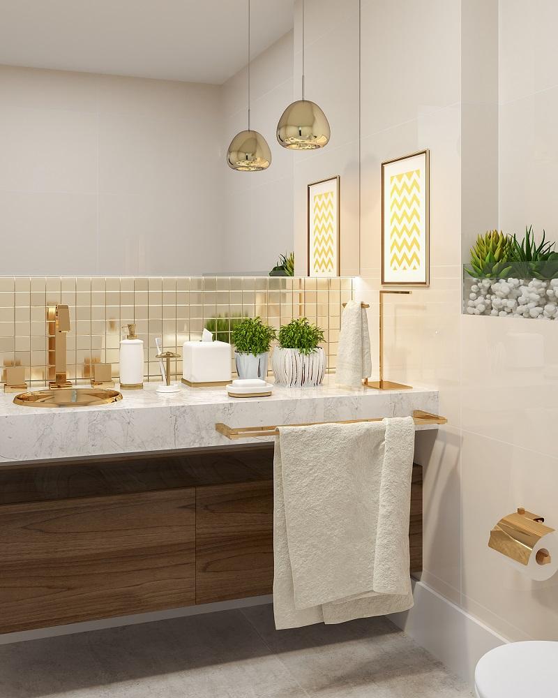 Banheiros Fotos Dicas E Projetos Leroy Merlin ~ Azulejo Para Parede De Quarto E Decoraçao Quarto De Casal