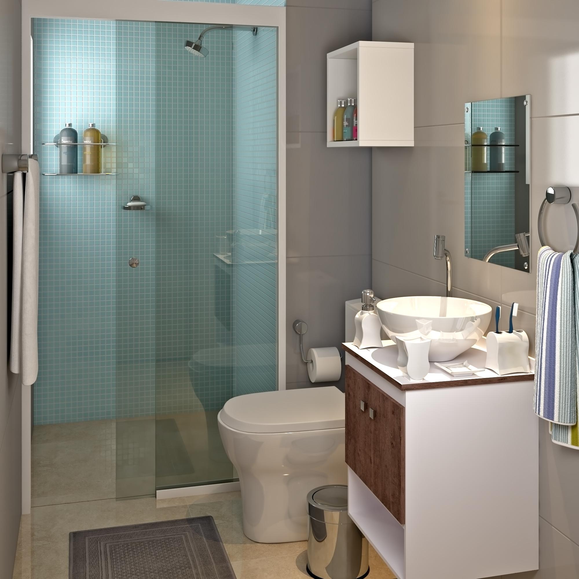 Banheiros pequenos 4 dicas fáceis de decoraç u00e3o -> Decoração De Banheiro Simples E Pequeno