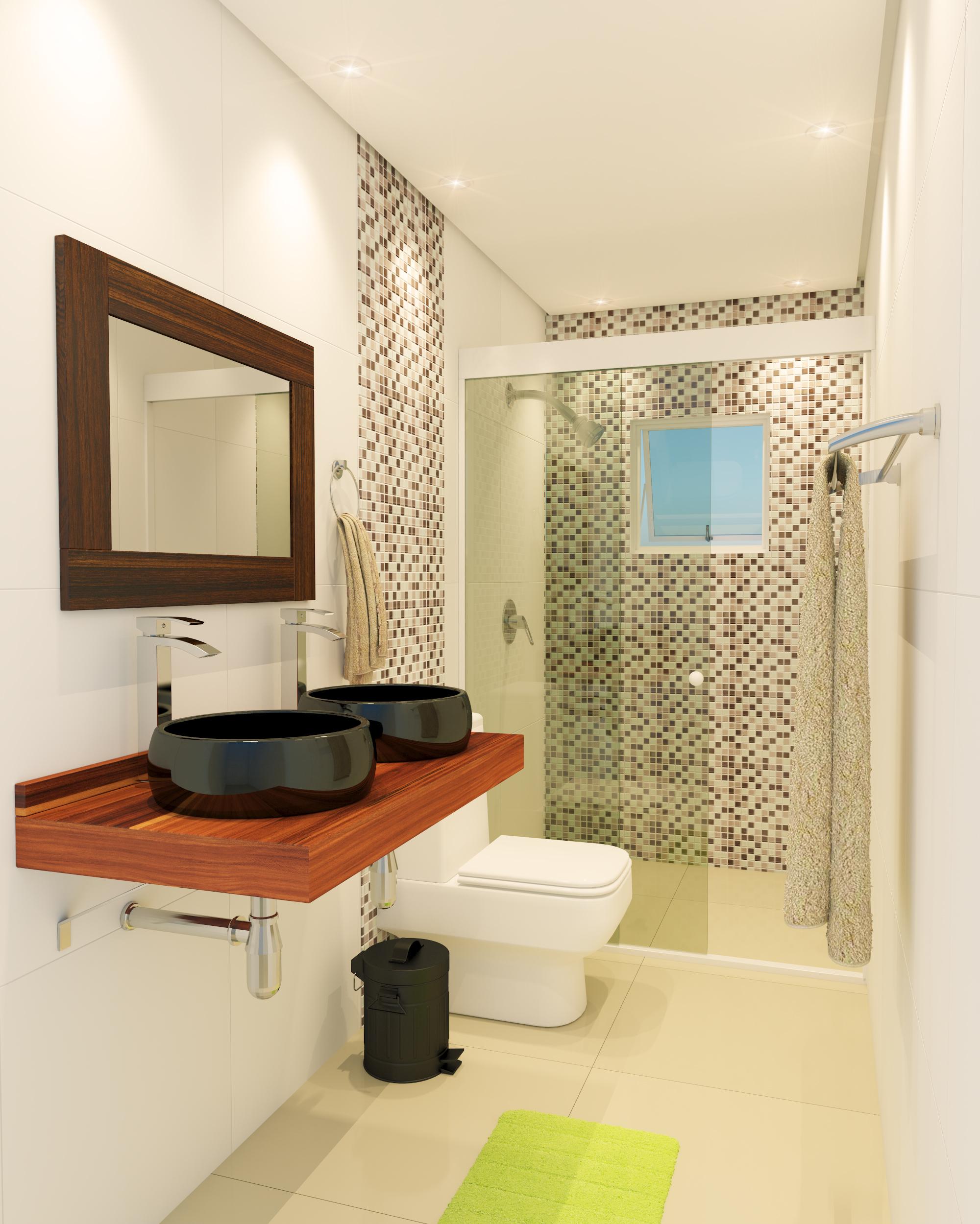 Banheiros pequenos 4 dicas f ceis de decora o for Lavabos pequenos leroy merlin