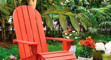 Cadeira confortável para jardim