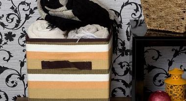 Caixas e cestos de tecido organizam ambientes e dão uma força na decoração