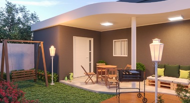 Casa com varanda grande e balanço