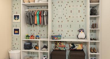 Closet com estilo retrô