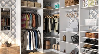 Closet de Canto para Casal