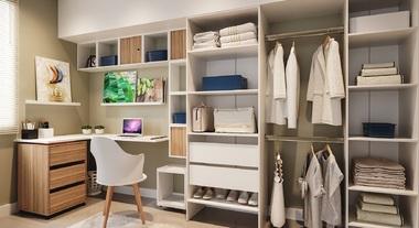 Closet e home office integrados