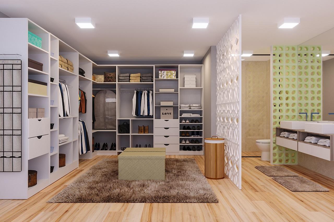 Closets Grandes Leroy Merlin ~ Quarto De Casal Grande Com Closet