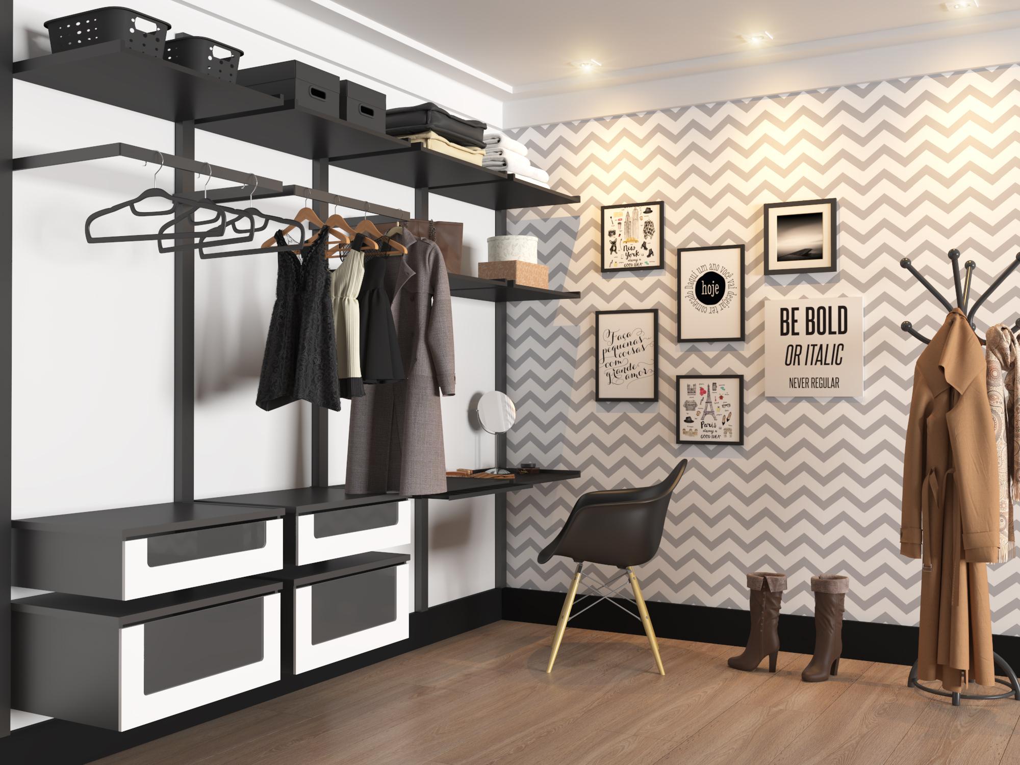 Closet grande com papel de parede leroy merlin for Closet grandes y baratos
