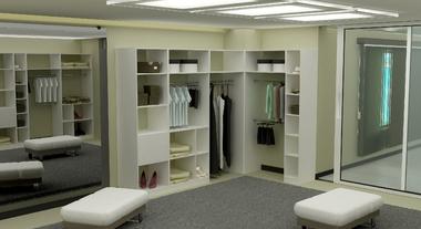 Closet grande e iluminado