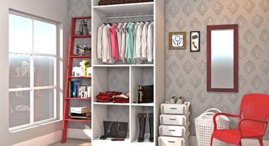 Closet prático e fácil de organizar