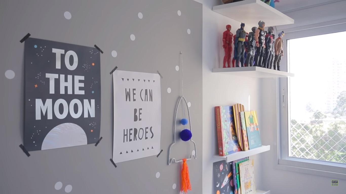 Como decorar quarto infantil com tema espacial