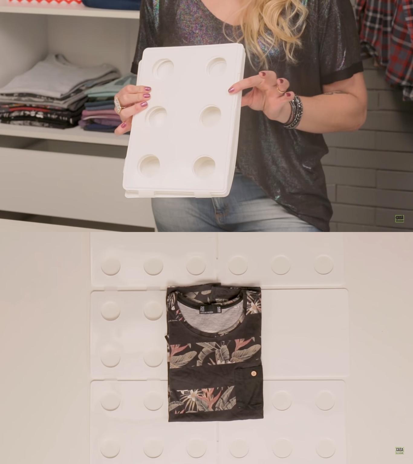 Como dobrar camiseta: passo a passo de como usar um dobrador de roupa e até uma revista para organizar o armário