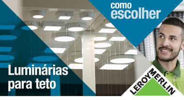 Como escolher luminárias de teto