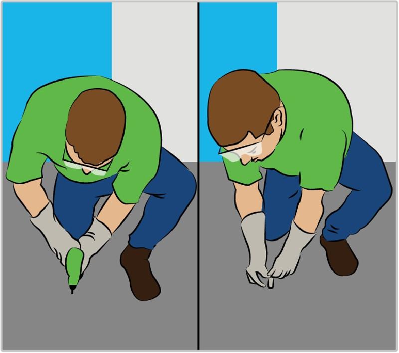 Furação de chão de alvenaria