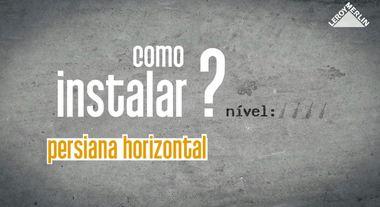 Como instalar persiana horizontal