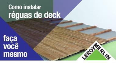 Como instalar réguas de deck