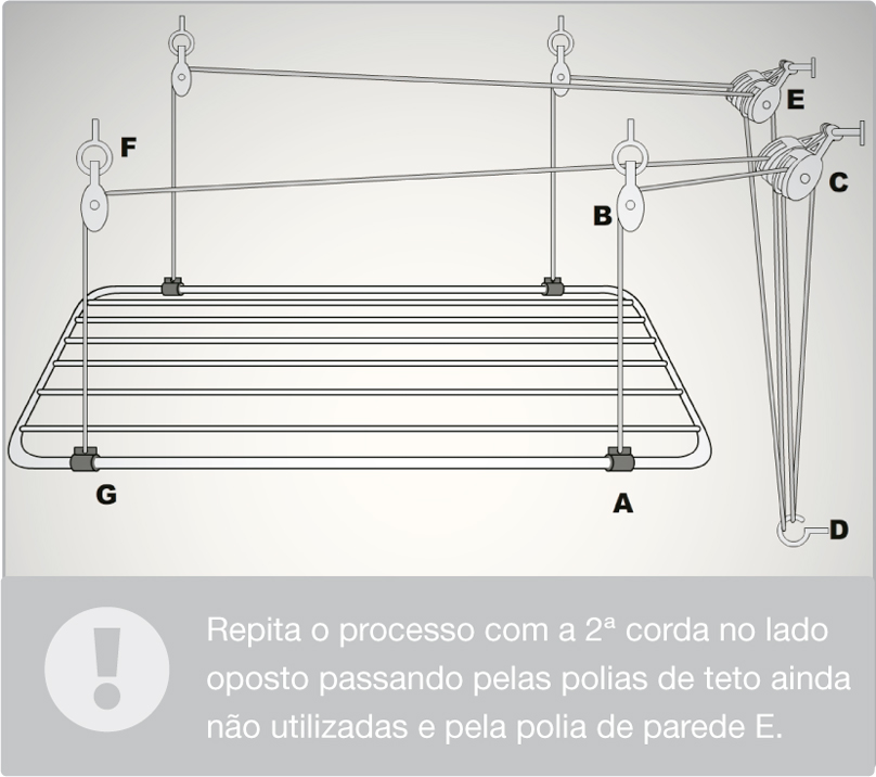 Como instalar um varal de teto leroy merlin for Tende corda leroy merlin