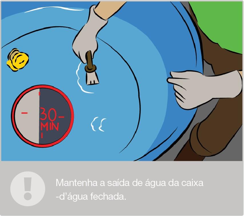Desinfete a caixa-d'água