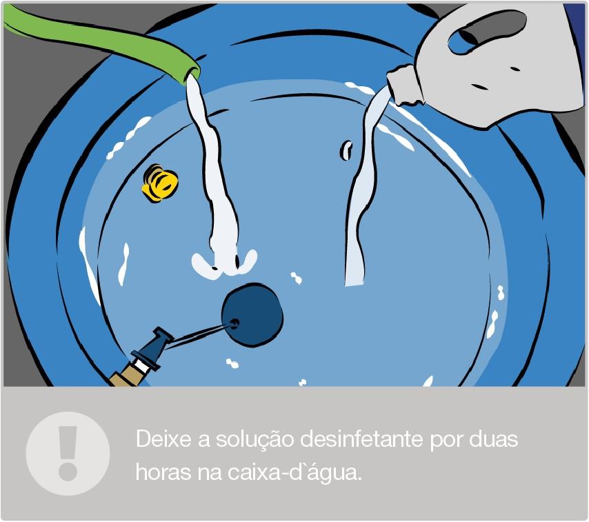 Prepare a solução desinfetante