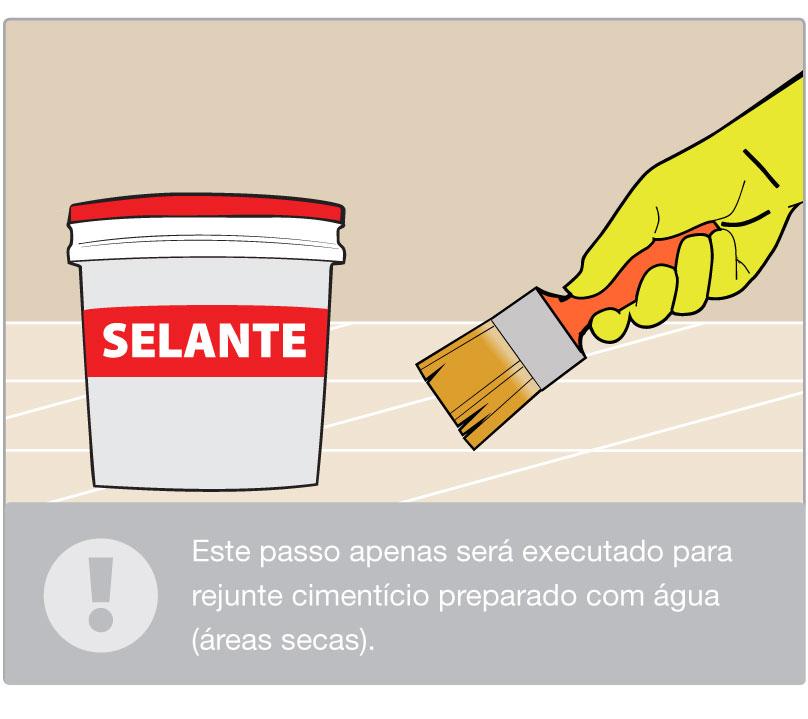 Aplique o selante
