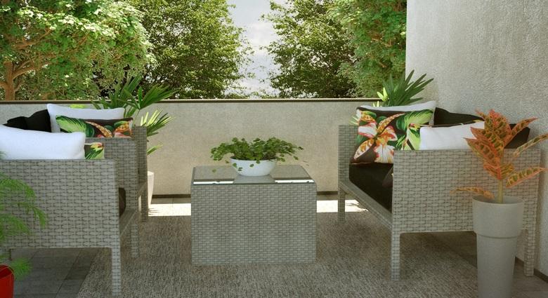 Confira 12 ambientes inspiradores com m veis para exterior for Sofa exterior leroy