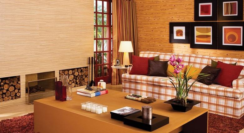 Sala com almofadas