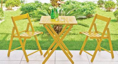 Conjunto de mesa e cadeira para área externa