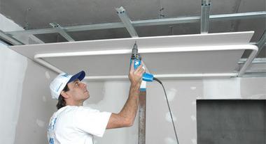 Construção rápida com o drywall