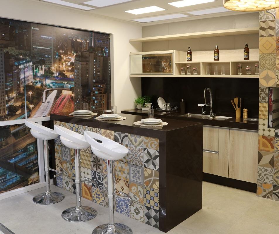 Cozinha americana decorada com azulejos leroy merlin for Azulejos de bano leroy merlin