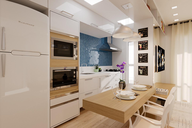 Cozinha Compacta Com Balc O Para Refei O Leroy Merlin